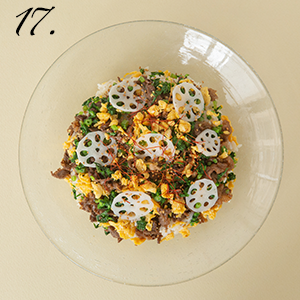 ふだんの食卓Vol.17 牛肉の菊花チラシ寿司